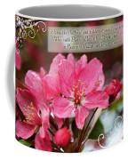 Cherry Blossom Greeting Card With Verse Coffee Mug