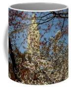 Cherry Blossoms And The Monument Coffee Mug