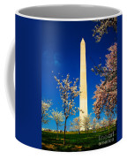 Cherry Blossoms At The Monument Coffee Mug