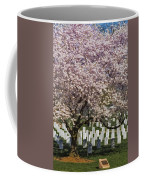 Cherry Blossoms Grace Arlington National Cemetery Coffee Mug by Susan Candelario