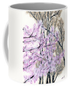 Cherry Blossoms In Spring Snow Coffee Mug