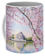 Jefferson Memorial Cherry Blossoms Coffee Mug