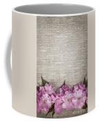 Cherry Blossoms On Linen  Coffee Mug