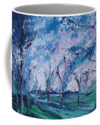 Cherry Trees Impressionism Coffee Mug