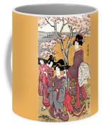 Cherry-viewing At Gotenyama Coffee Mug