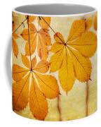Chestnut Leaves At Autumn Coffee Mug