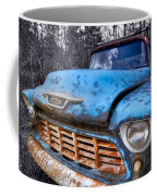 Chevy In The Woods Coffee Mug by Debra and Dave Vanderlaan