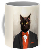 Chic Black Cat Coffee Mug