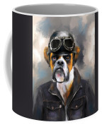 Chic Boxer Aviator Coffee Mug by Jai Johnson