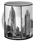 Chicago 333 And The Tower 2 Panel Bw Coffee Mug