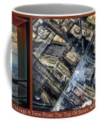 Chicago A View From The Top Of Sears Willis Tower Hdr Triptych 3 Panel Coffee Mug