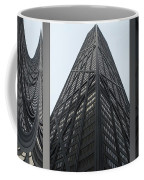 Chicago Abstract Before And After John Hancock Sw Facades Triptych 3 Panel Coffee Mug