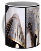 Chicago Abstract Before And After Sunrays On Trump Tower 2 Panel Coffee Mug