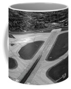 Chicago Airplanes 04 Black And White Coffee Mug
