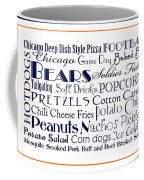 Chicago Bears Game Day Food 3 Coffee Mug