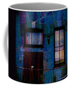 Chicago Brick Facade Night Moves Coffee Mug