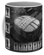 Chicago Bulls Banners In Black And White Coffee Mug by Thomas Woolworth