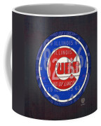 Chicago Cubs Baseball Team Retro Vintage Logo License Plate Art Coffee Mug by Design Turnpike