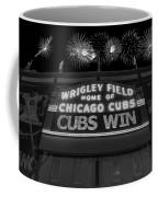 Chicago Cubs Win Fireworks Night B W Coffee Mug