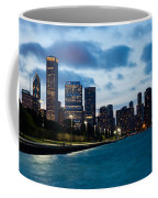 Chicago Lake Front At Blue Hour Coffee Mug