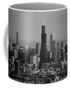 Chicago Looking East 02 Black And White Coffee Mug