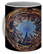 Chicago Looking East Polar View Coffee Mug by Thomas Woolworth