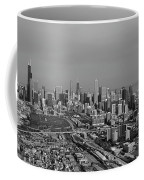 Chicago Looking North 01 Black And White Coffee Mug