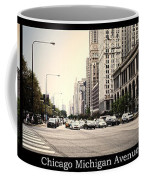 Chicago Michigan Ave Field Museum Art Institute Triptych 3 Panel Coffee Mug