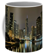 Chicago Night River View Coffee Mug