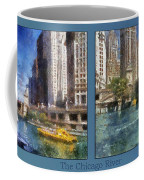 Chicago River 2 Panel Coffee Mug