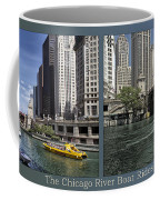 Chicago River Boat Rides 2 Panel Coffee Mug