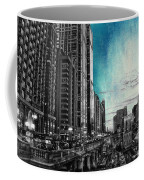 Chicago River Hdr Sc Textured Coffee Mug