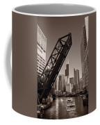 Chicago River Traffic Bw Coffee Mug