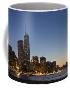 Chicago Skyline At Dusk 3 To1 Aspect Ratio Coffee Mug