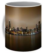 Chicago Skyline In Fog With Reflection Coffee Mug