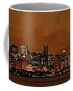Chicago Skyline Panorama At Dusk Coffee Mug