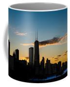 Chicago Skyline Silhouette Coffee Mug by Steve Gadomski