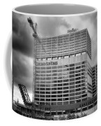Chicago Sun Times Facade After The Storm Bw Coffee Mug