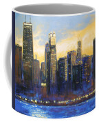 Chicago Sunset Looking South Coffee Mug