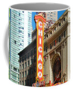 Chicago Theater Marquee Sign On State Street Coffee Mug