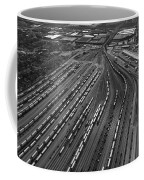 Chicago Transportation 02 Black And White Coffee Mug