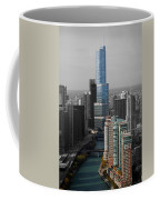Chicago Trump Tower Blue Selective Coloring Coffee Mug