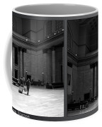 Chicago Union Station The Great Hall 2 Panel Bw Coffee Mug