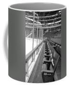 Chicago United Center Before The Gates Open Blackhawk Seat One Bw Coffee Mug