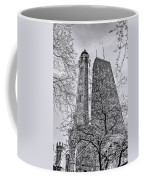 Chicago Water And Hancock Towers Black And White Coffee Mug