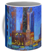 Chicago Water Tower At Night Coffee Mug