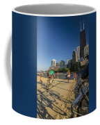 Chicago's Lakefront Bike Path On A Summer Evening Coffee Mug