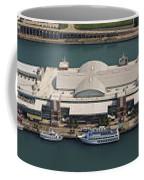 Chicago's Navy Pier Aerial Panoramic Coffee Mug by Adam Romanowicz