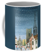 Chichester Cathedral A Snow Scene Coffee Mug by Judy Joel