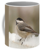 Chickadee In The Snow Coffee Mug